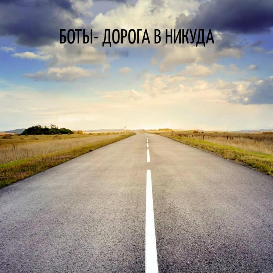Боты - дорога в никуда